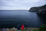 Amber: Looking out from Skomer.